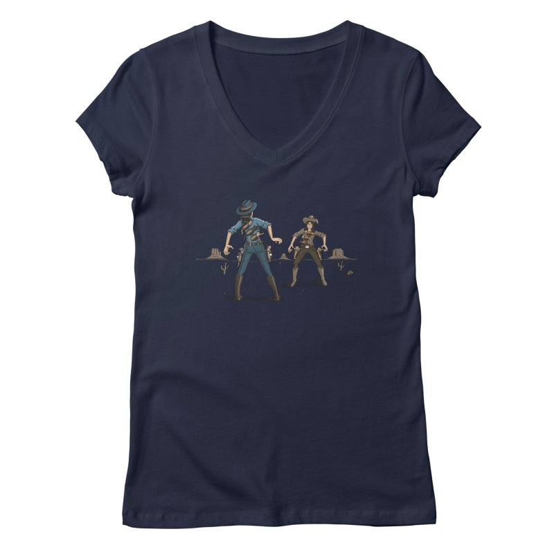 Catfight Women's Regular V-Neck by Urban Prey's Artist Shop