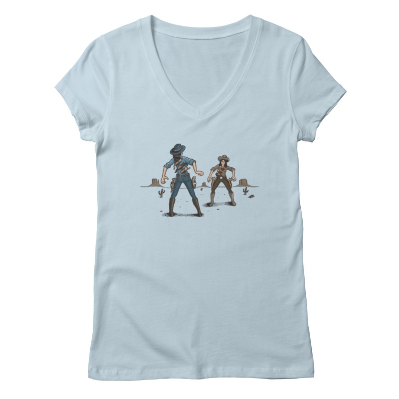 Catfight Women's V-Neck by Urban Prey's Artist Shop