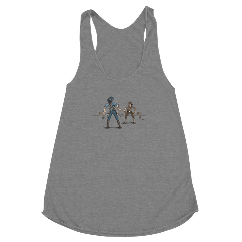 Catfight Women's Racerback Triblend Tank by Urban Prey's Artist Shop