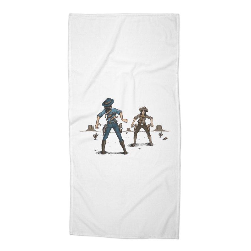 Catfight Accessories Beach Towel by Urban Prey's Artist Shop