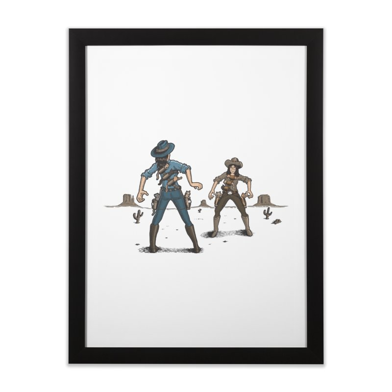 Catfight Home Framed Fine Art Print by Urban Prey's Artist Shop