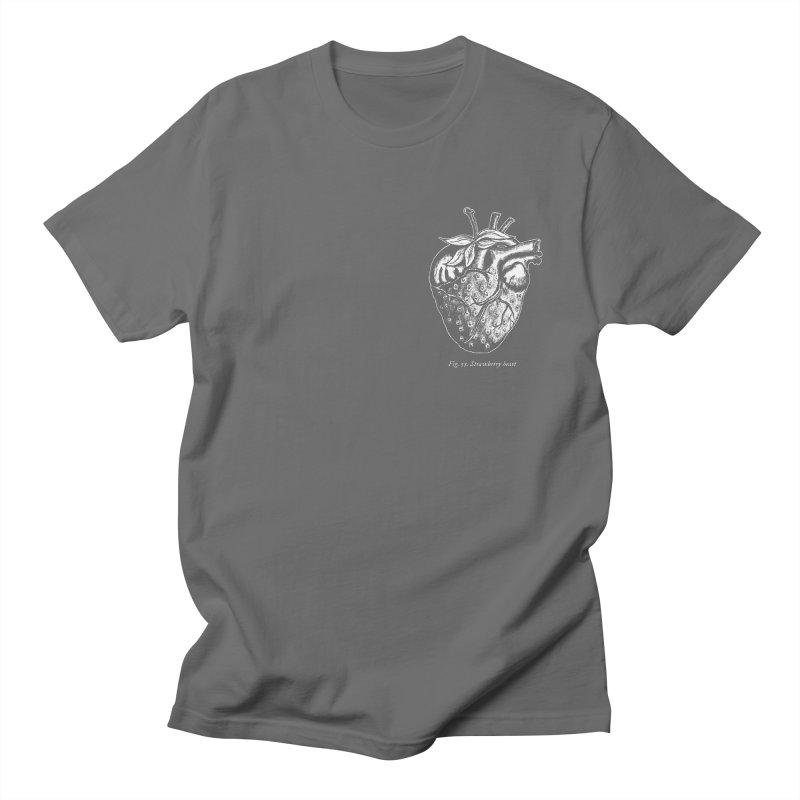 Strawberry Heart White Men's T-Shirt by Urban Prey's Artist Shop