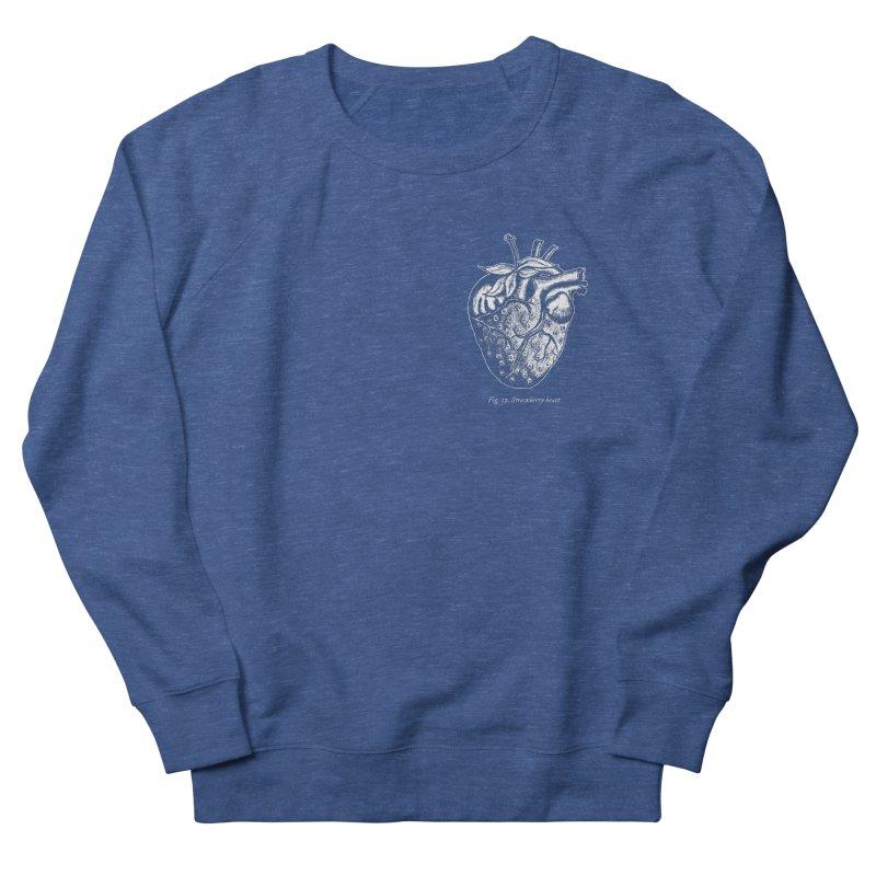 Strawberry Heart White Women's Sweatshirt by Urban Prey's Artist Shop