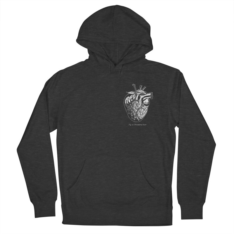 Strawberry Heart White Men's Pullover Hoody by Urban Prey's Artist Shop