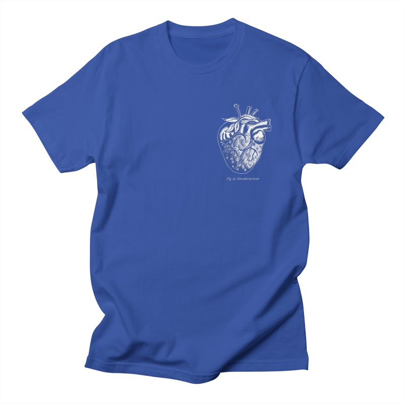 Strawberry Heart White Men's Regular T-Shirt by Urban Prey's Artist Shop