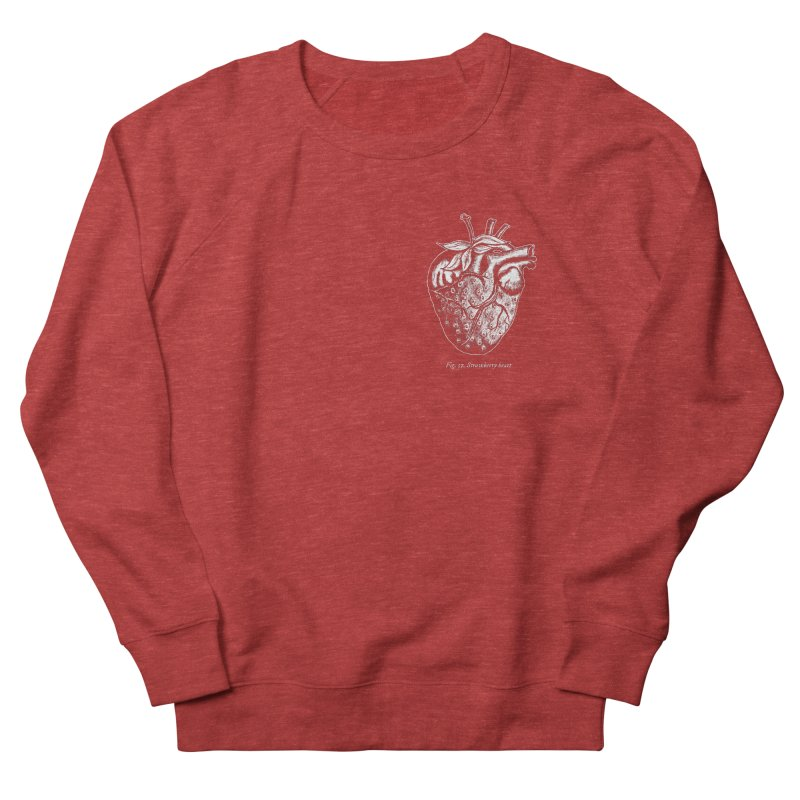 Strawberry Heart White Women's Sweatshirt by Urban Prey's Artist Shop