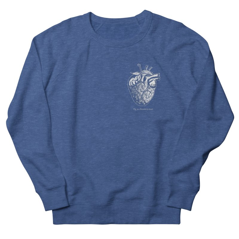 Strawberry Heart White Men's Sweatshirt by Urban Prey's Artist Shop