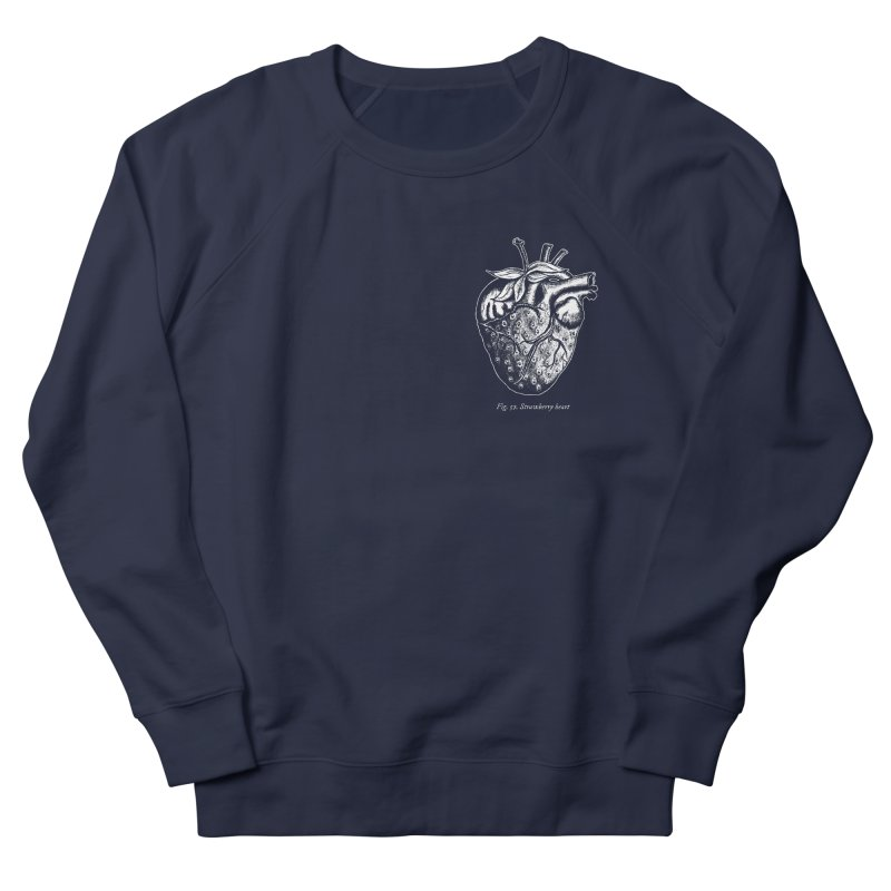 Strawberry Heart White Men's Sweatshirt by Urban Prey's Artist Shop