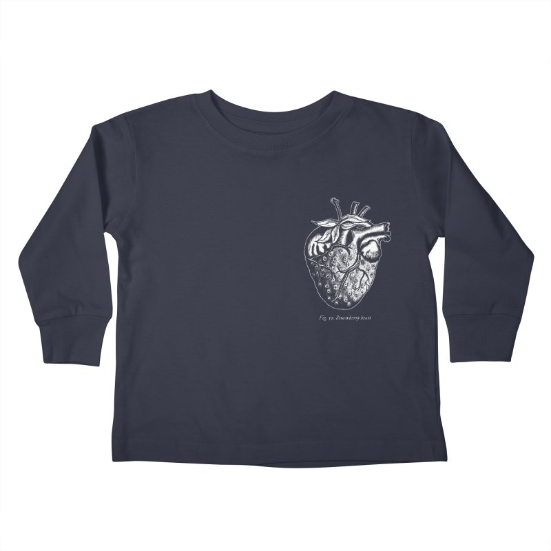 Strawberry Heart White Kids Toddler Longsleeve T-Shirt by Urban Prey's Artist Shop