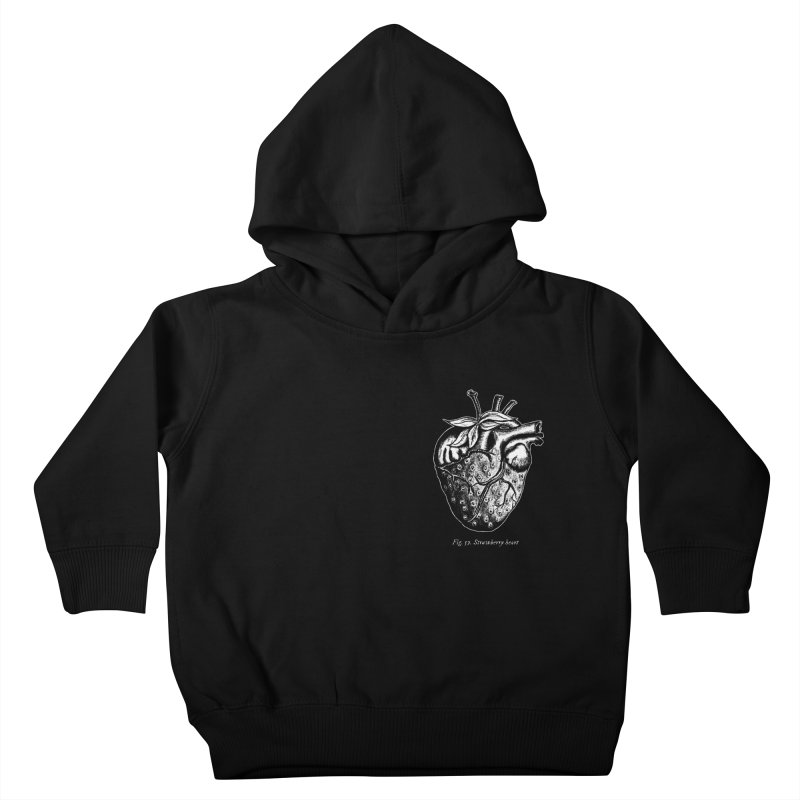 Strawberry Heart White Kids Toddler Pullover Hoody by Urban Prey's Artist Shop