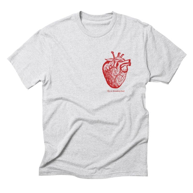 Strawberry Heart Red Men's T-Shirt by Urban Prey's Artist Shop