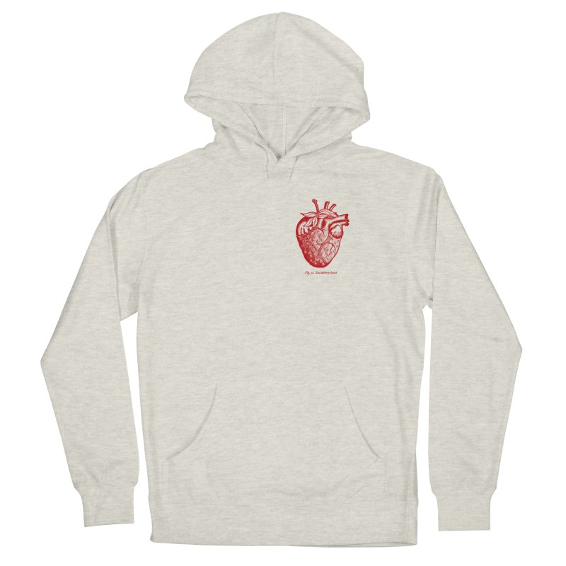 Strawberry Heart Red Men's Pullover Hoody by Urban Prey's Artist Shop