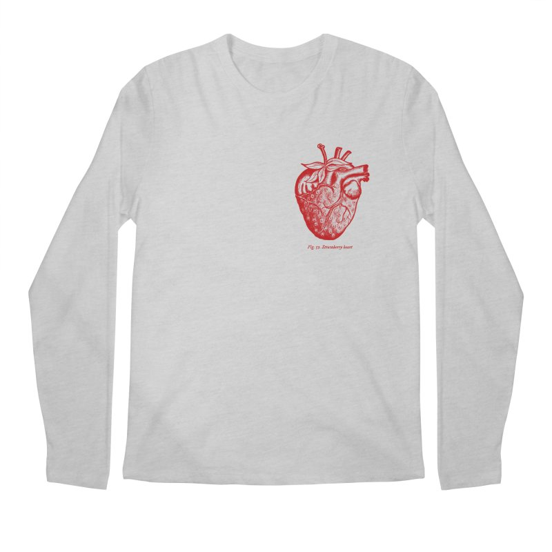 Strawberry Heart Red Men's Regular Longsleeve T-Shirt by Urban Prey's Artist Shop