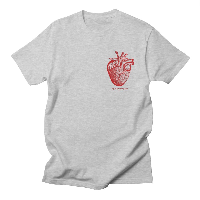 Strawberry Heart Red Men's T-Shirt by Urban Prey's Artist Shop