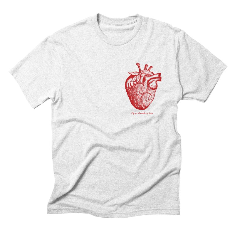 Strawberry Heart Red Men's Triblend T-shirt by Urban Prey's Artist Shop