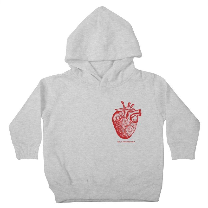 Strawberry Heart Red Kids Toddler Pullover Hoody by Urban Prey's Artist Shop