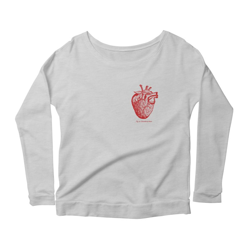 Strawberry Heart Red Women's Longsleeve T-Shirt by Urban Prey's Artist Shop