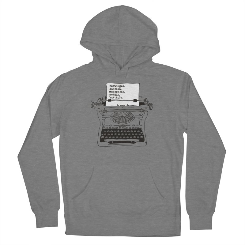 Typewriter Women's Pullover Hoody by Urban Prey's Artist Shop