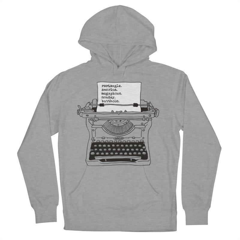 Typewriter Women's Pullover Hoody by Urban Prey's Artist Shop