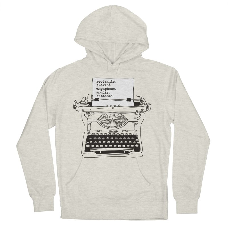 Typewriter Women's French Terry Pullover Hoody by Urban Prey's Artist Shop