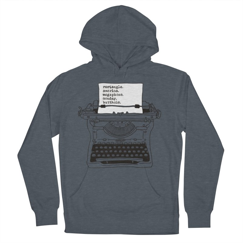 Typewriter Men's French Terry Pullover Hoody by Urban Prey's Artist Shop