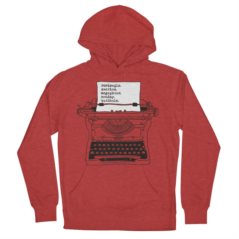 Typewriter Men's Pullover Hoody by Urban Prey's Artist Shop
