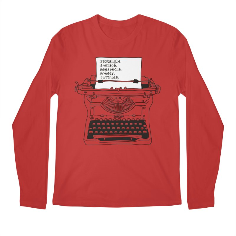 Typewriter Men's Regular Longsleeve T-Shirt by Urban Prey's Artist Shop