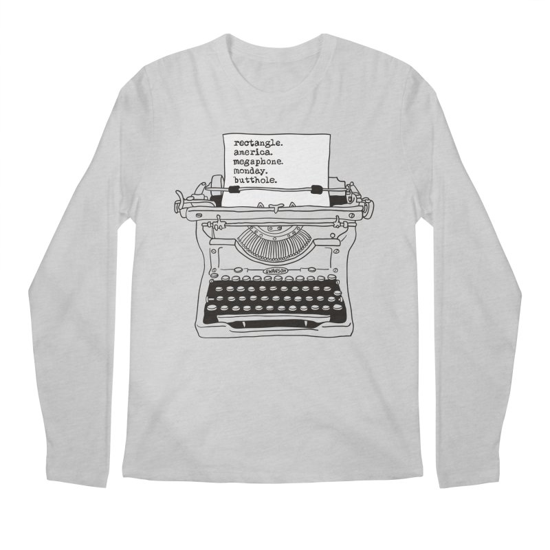Typewriter Men's Regular Longsleeve T-Shirt by Urban Prey's Artist Shop