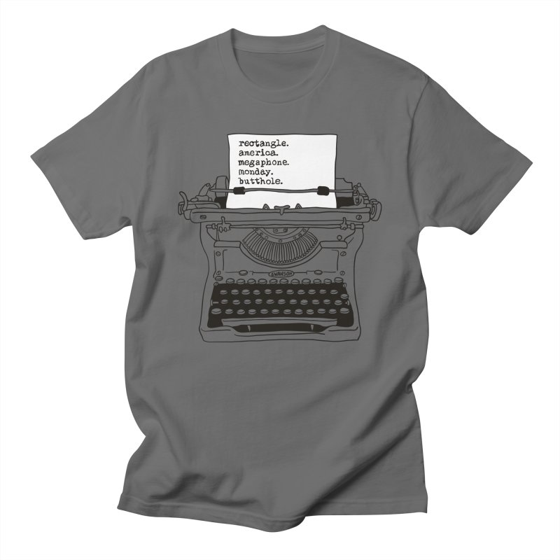Typewriter Men's T-Shirt by Urban Prey's Artist Shop
