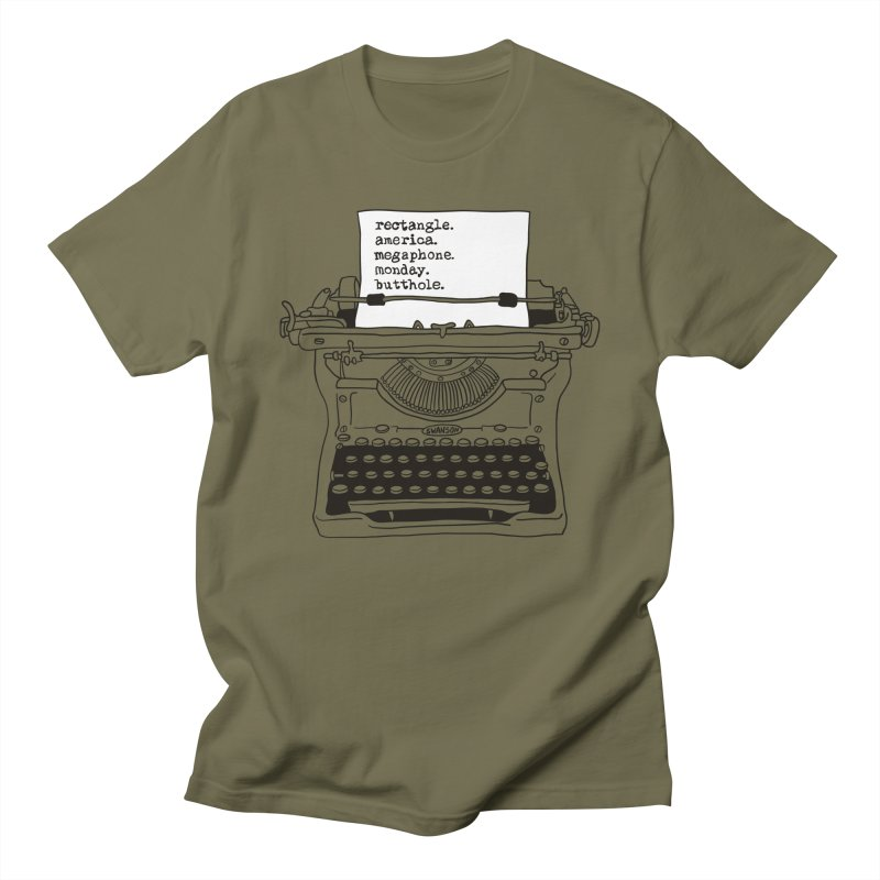 Typewriter Men's Regular T-Shirt by Urban Prey's Artist Shop