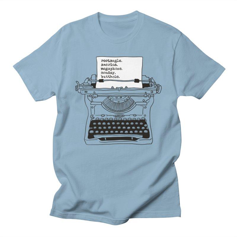 Typewriter Men's Regular T-Shirt by Urban Prey's Artist Shop