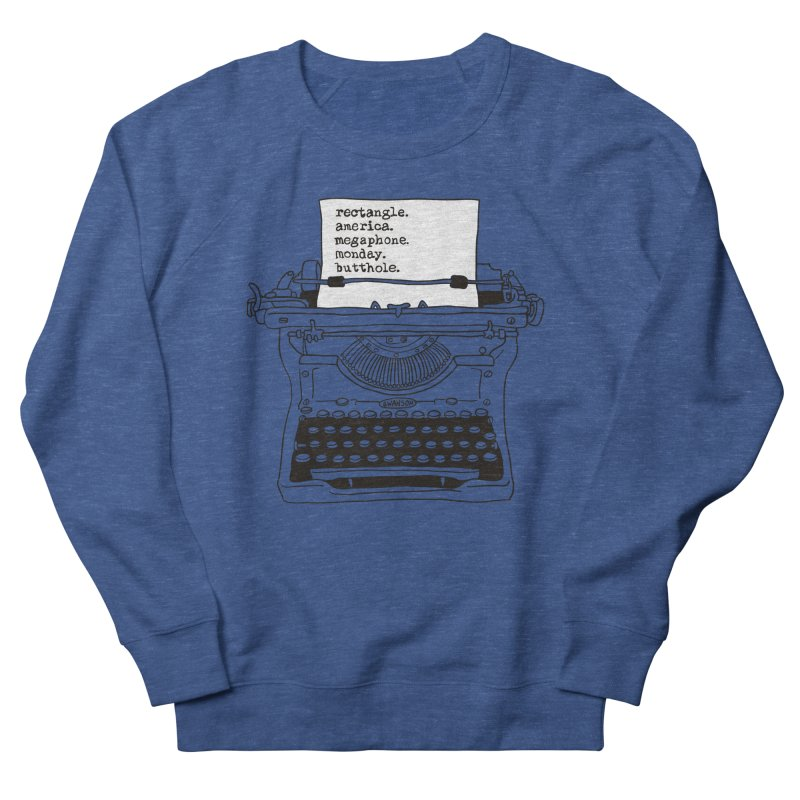 Typewriter Women's French Terry Sweatshirt by Urban Prey's Artist Shop
