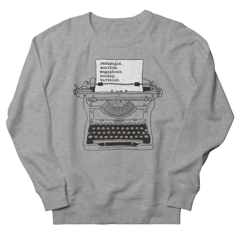 Typewriter Women's French Terry Sweatshirt by Urban Prey's Artist Shop