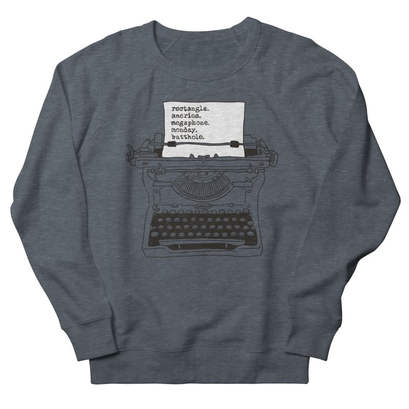 Typewriter Men's Sweatshirt by Urban Prey's Artist Shop