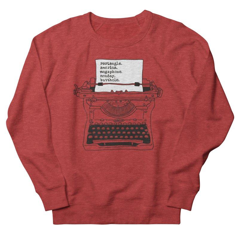 Typewriter Men's French Terry Sweatshirt by Urban Prey's Artist Shop