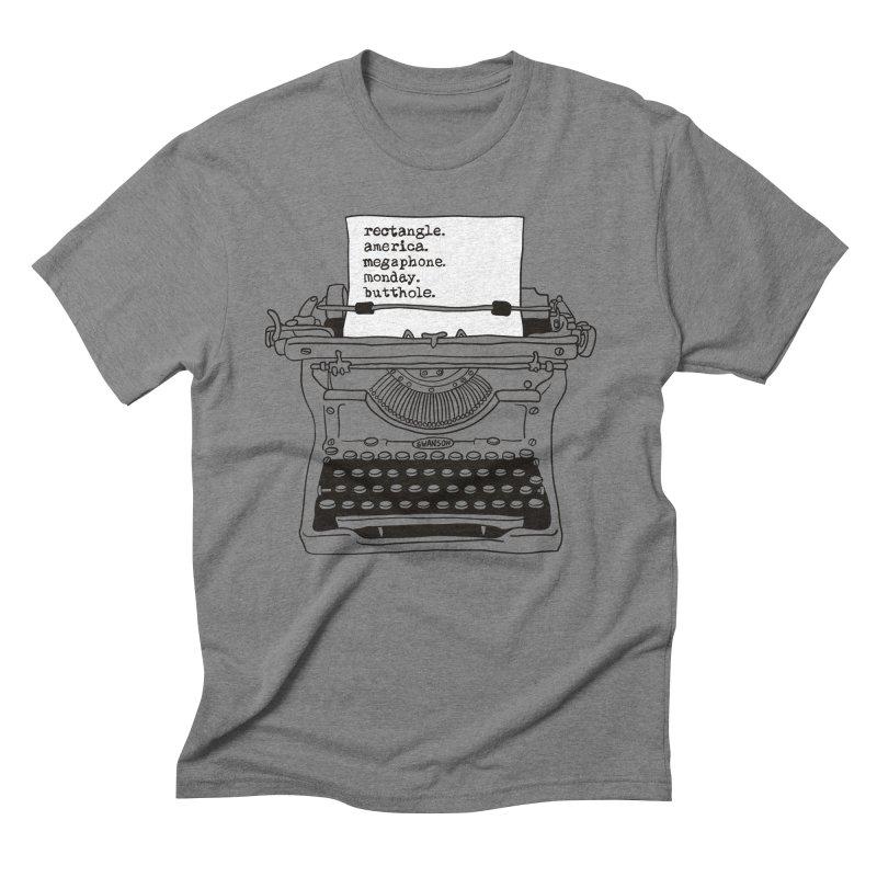 Typewriter Men's T-Shirt by Urban Prey's Artist Shop