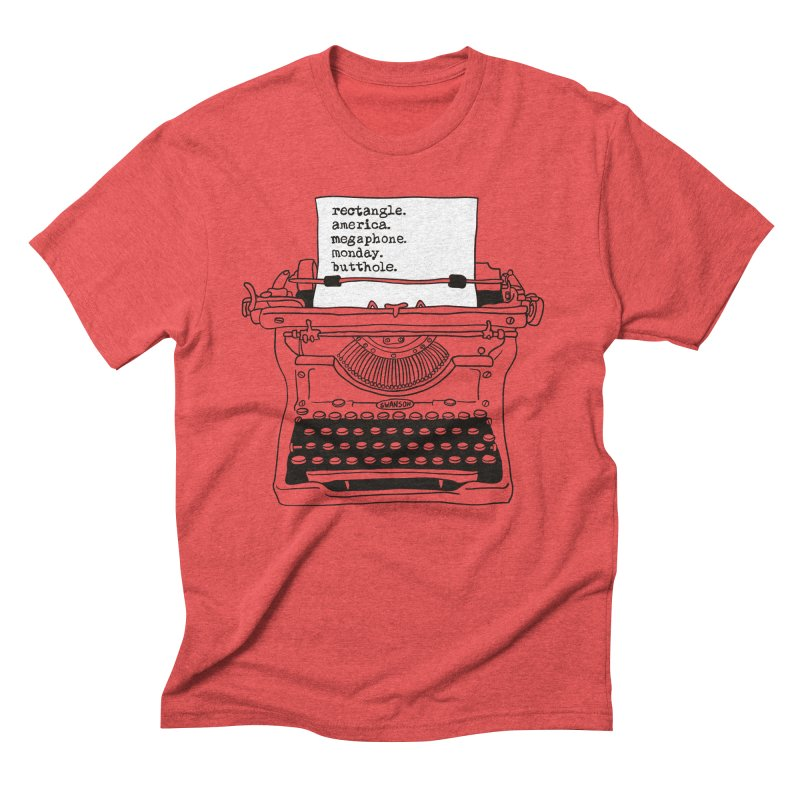 Typewriter Men's Triblend T-Shirt by Urban Prey's Artist Shop