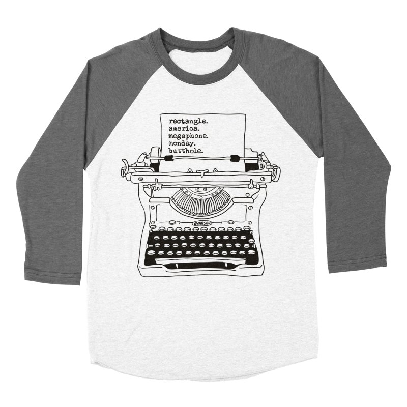 Typewriter Women's Baseball Triblend Longsleeve T-Shirt by Urban Prey's Artist Shop