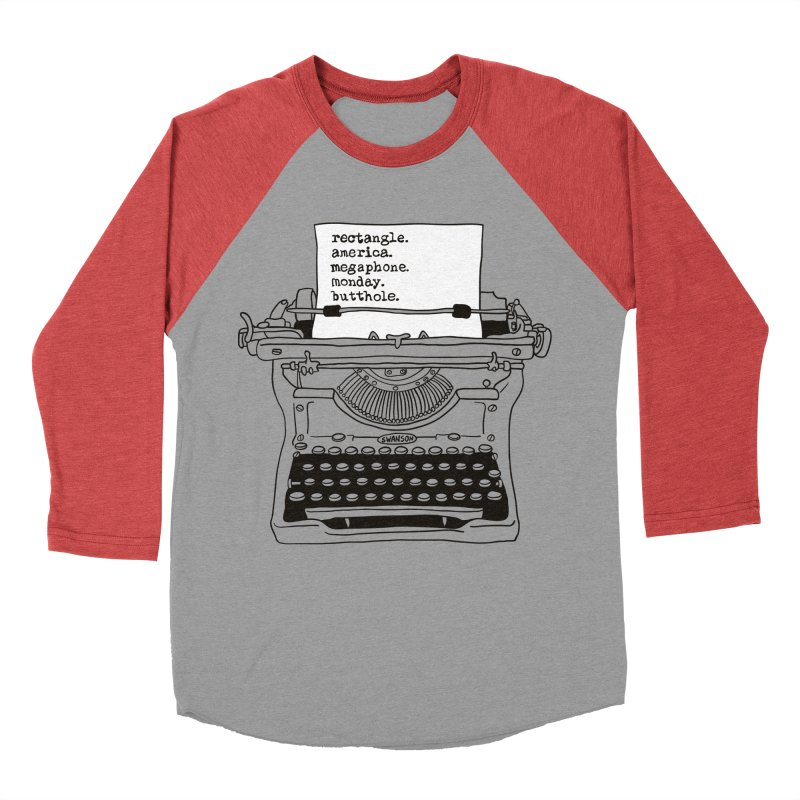 Typewriter Women's Baseball Triblend T-Shirt by Urban Prey's Artist Shop