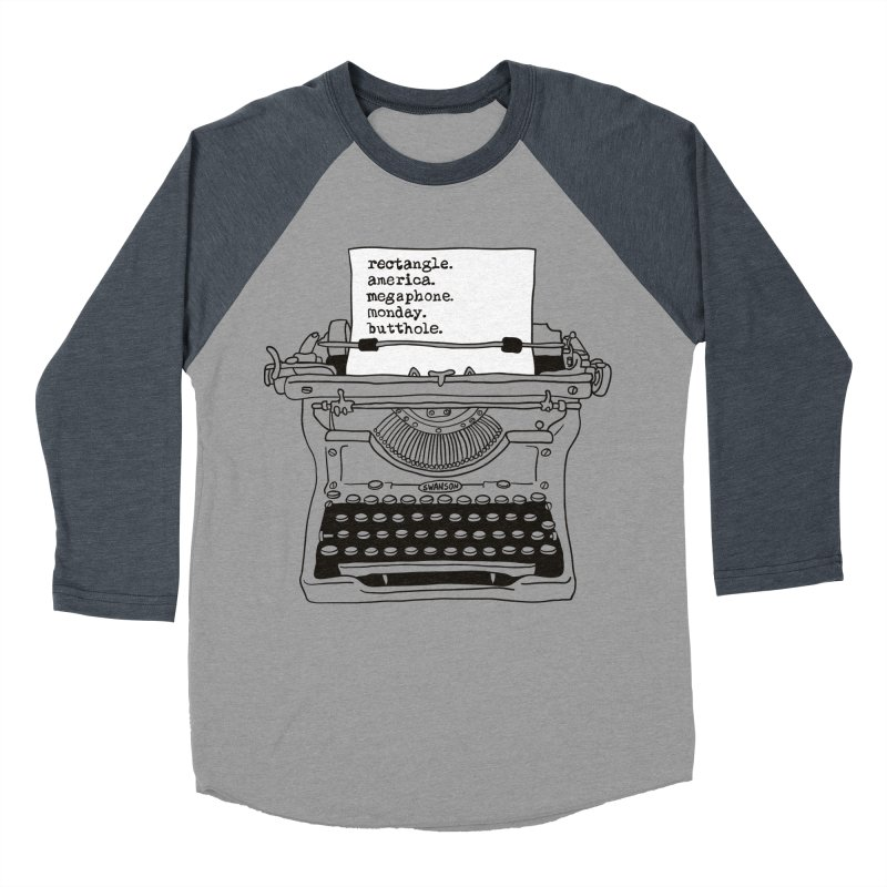 Typewriter Women's Baseball Triblend Longsleeve T-Shirt by Urban Prey's Artist Shop