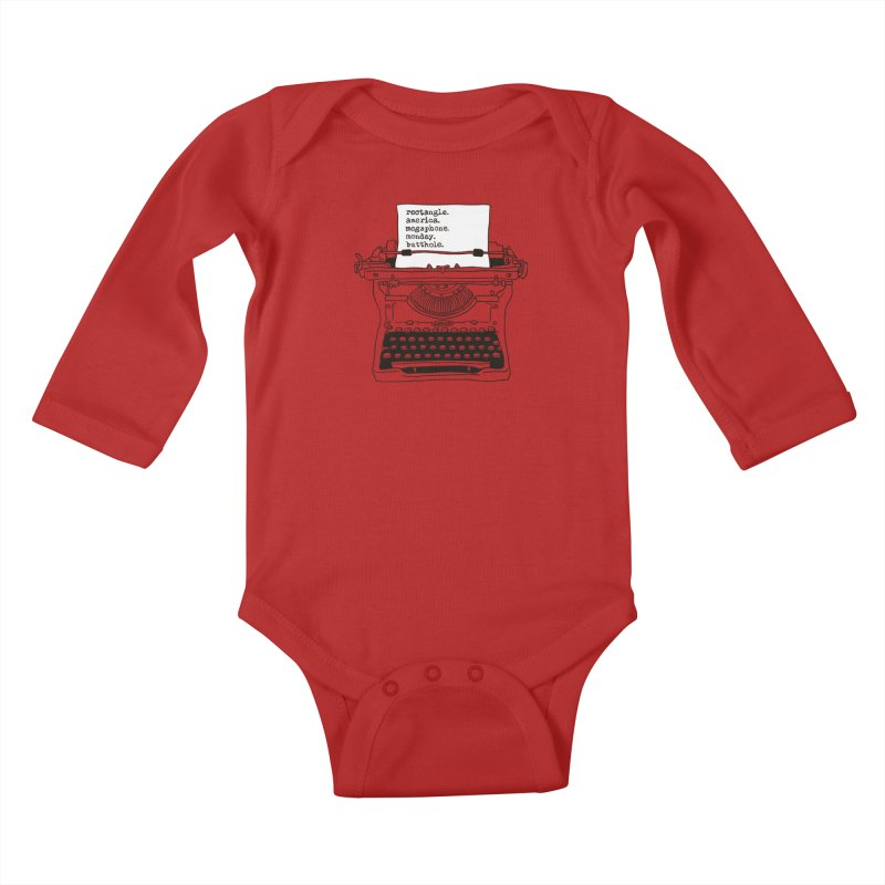 Typewriter Kids Baby Longsleeve Bodysuit by Urban Prey's Artist Shop
