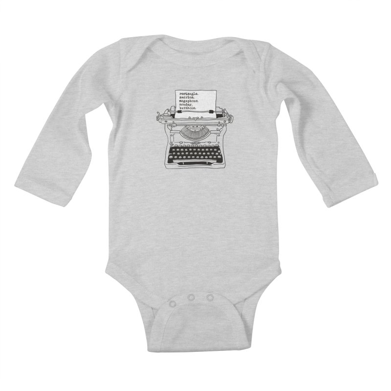 Typewriter Kids Baby Longsleeve Bodysuit by Urban Prey's Artist Shop