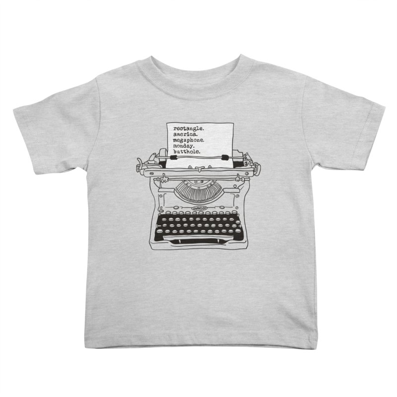 Typewriter Kids Toddler T-Shirt by Urban Prey's Artist Shop