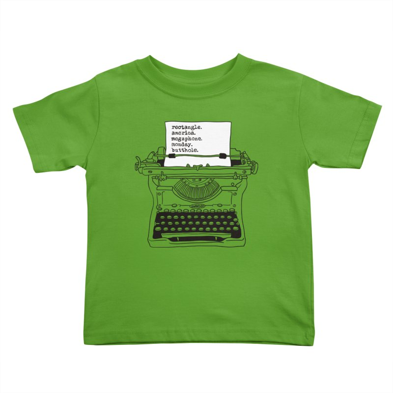Typewriter Kids Toddler T-Shirt by Urban Prey's Artist Shop