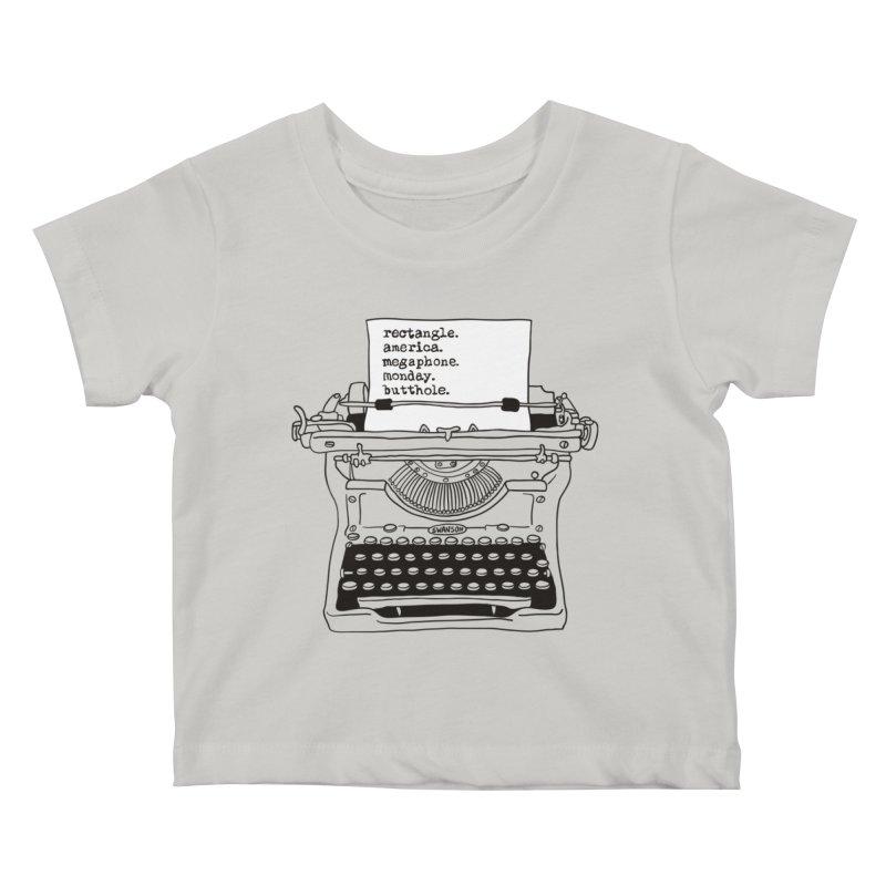 Typewriter Kids Baby T-Shirt by Urban Prey's Artist Shop