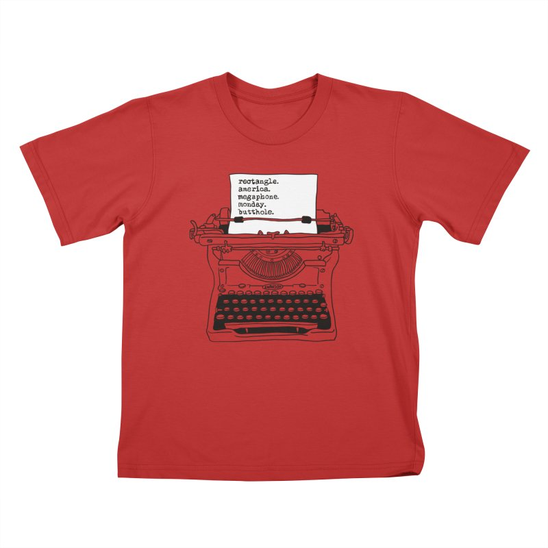 Typewriter Kids T-Shirt by Urban Prey's Artist Shop