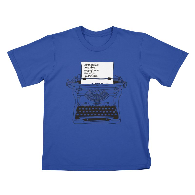 Typewriter Kids T-Shirt by Urban Prey's Artist Shop
