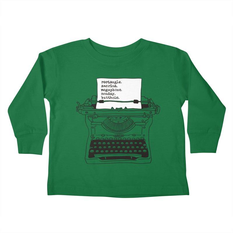 Typewriter Kids Toddler Longsleeve T-Shirt by Urban Prey's Artist Shop