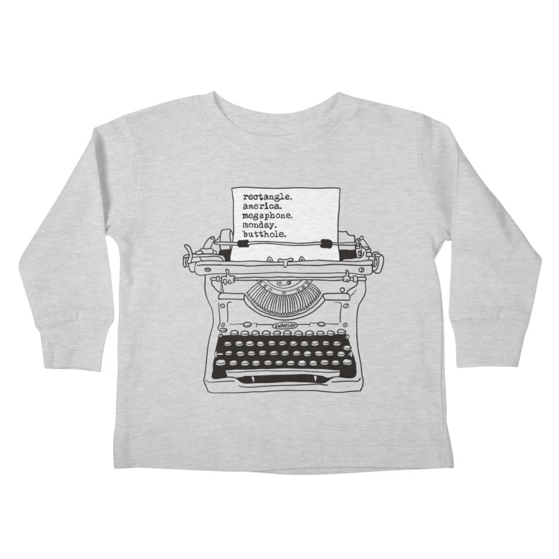 Typewriter Kids Toddler Longsleeve T-Shirt by Urban Prey's Artist Shop
