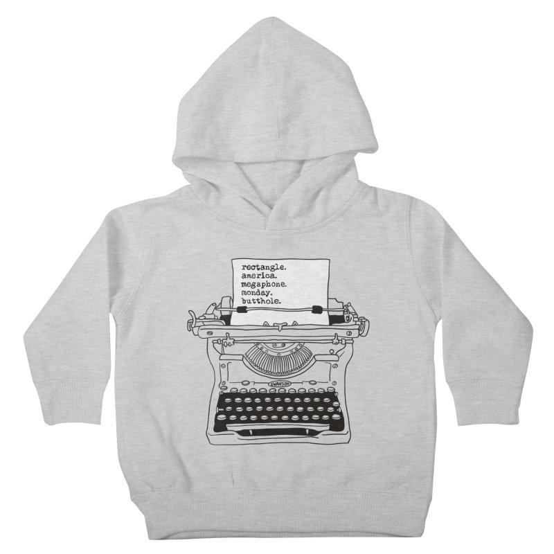 Typewriter Kids Toddler Pullover Hoody by Urban Prey's Artist Shop